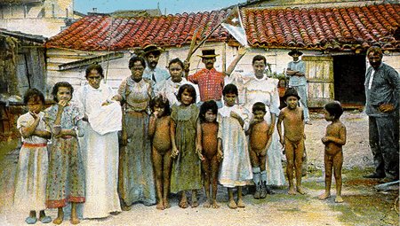 Indigenous Cuban Family