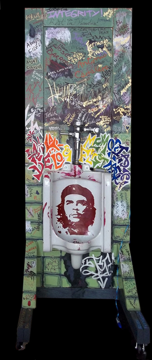 Che Guevra Memorial Urinal by Lili Bernard