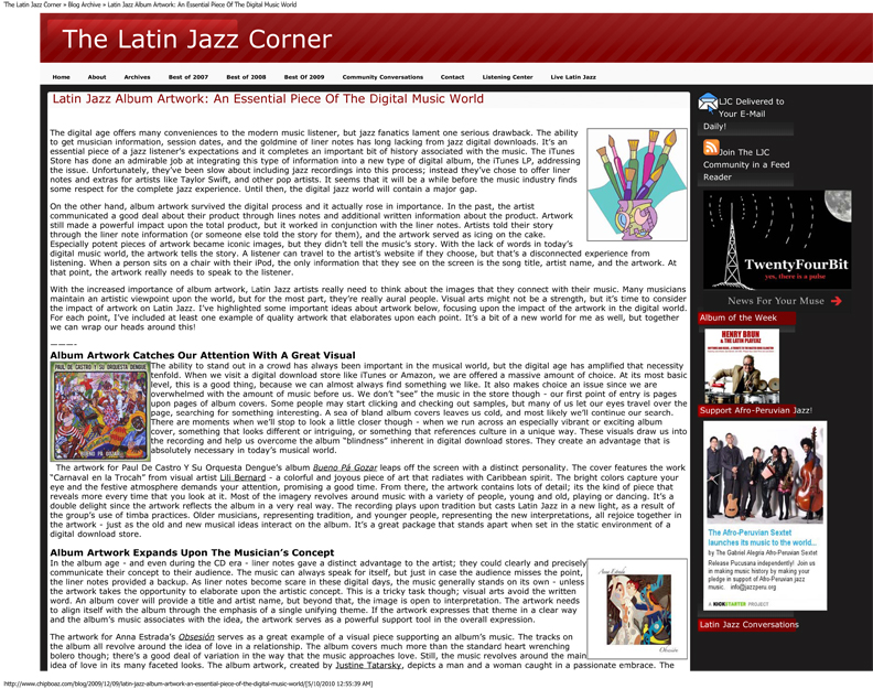 Lili Bernard in Latin Jazz Corner